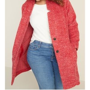 Old Navy Plus sizes Cardi Coat red 2X